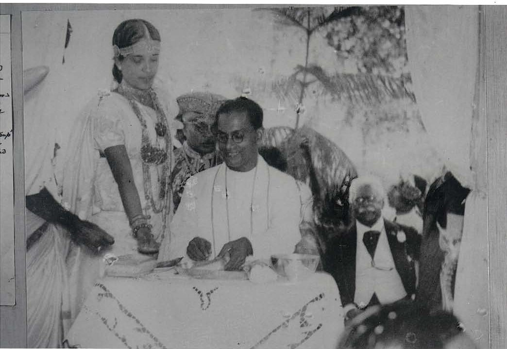 Marriage to S.W.R.D. Bandaranaike